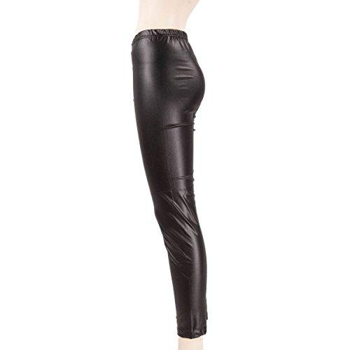 Jegging Noir Cuir 34 Femme Effet Azertex 0v6dqw0