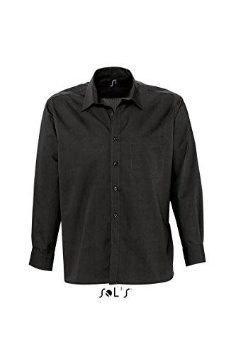SOL´S Mens Long Sleeved Shirt Bradford, Größe:L, Farbe:Black