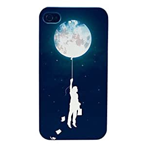 YULIN Man and Space Explorer Pattern Hard Case for iPhone 4/4S