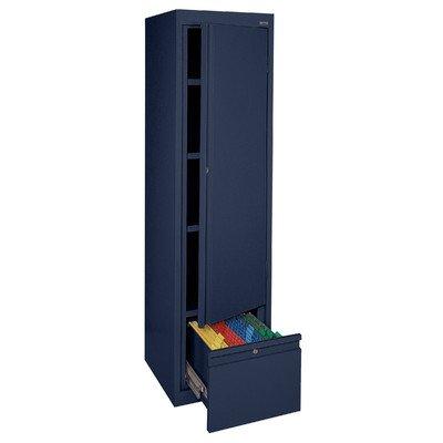 Sandusky System Series Single - Sandusky Lee HADF171864-A6 System Series Single Door Storage with File Drawer, Navy Blue