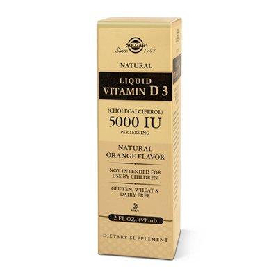 vitamine D3 LIQUIDE (cholécalciférol) 5000IU arôme naturel d'orange -60 ML