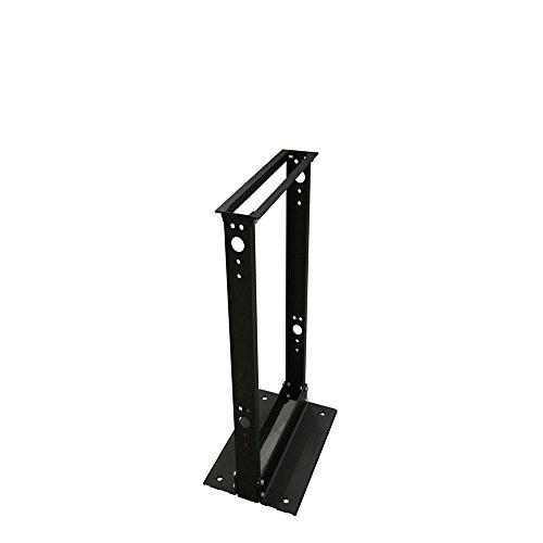(Quest Manufacturing 2-Post Open Frame Aluminium Floor Rack, 28 Unit, 4' x 19