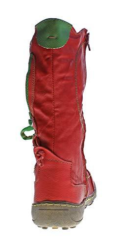 Rojo Lisa Para Mujer Tma Botas Piel De SwYOc4qP