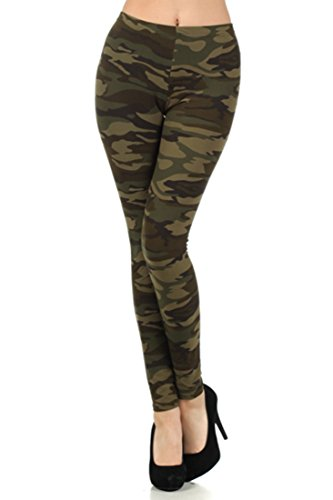 Women's Army Military Camouflage Various Pattern Leggings (Plus Size, Army)