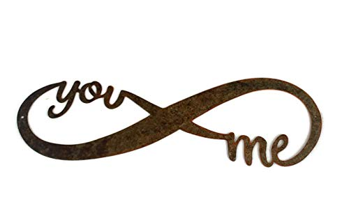 Infinity Naturally Rusted Steel Word Art 18 Inches (Steel Decor)
