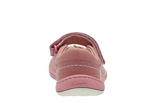 Clarks Softly Wow Fst, Botines de Senderismo para Bebés Vintage Pink