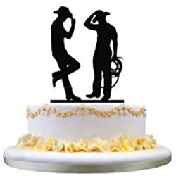 Same Sex Wedding Gay Wedding Cake Topper Wedding Gift for Cowboys