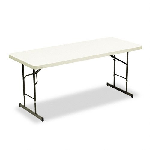 Table Folding Series Banquet (Iceberg ICE65623 IndestrucTable TOO 1200 Series Adjustable Height Plastic Folding Table, 72 by 30 inches, Platinum)
