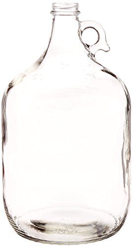 North Mountain Supply Clear Glass Jug with Handle and Black Metal Lid ()