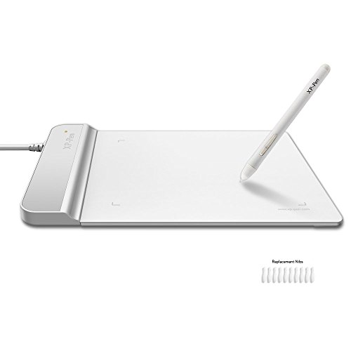 XP-Pen G430 OSU Grafiktablett Pen Drawing Stift Tablet (G430, Weiß)