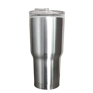 FGKING Vasos de Acero Inoxidable con Tapas, Vasos de Metal ...