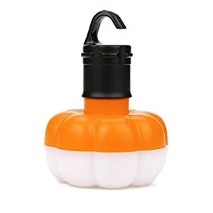 UPLOTER New LED Camping Hanging Light Bulb Tent Fishing Lantern Outdoor Emergency Lamp (Orange)