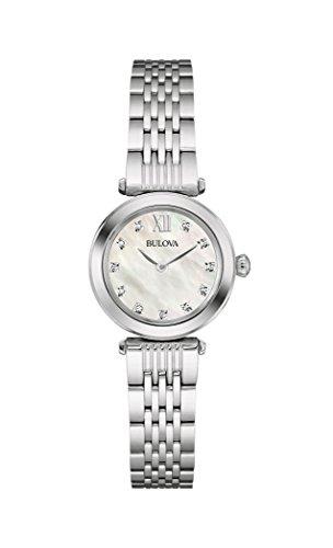 Bulova 96S167 Ladies Diamond Silver Steel Bracelet Watch