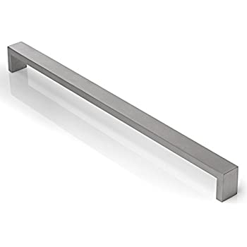 cauldham solid stainless steel cabinet hardware square