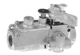 BASO H43BA-2C Series H43 Automatic Pilot Valve with Manual Shutoff, High Temperature Power Unit, 3/8'' x 3/8'' Inlet/Outlet, Aluminum by Baso