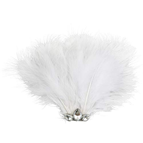 Women Girls Hair Clip Hair Snap DIY Party Feather Diamante Head Accessory #2 -