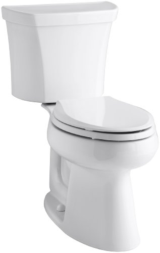 Kohler K-3979-RA-0 Highline Comfort Height 1.6 gpf Toilet, Right-Hand Trip Lever, White
