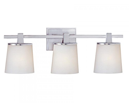 Dolan Designs 3783-09 3Lt Bath Satin Nickel Ellipse 3 Light Bathroom Fixture