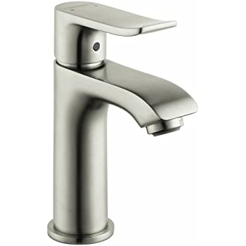 Hansgrohe 31088001 metris 100 single hole faucet chrome bathroom sink faucets Hansgrohe logis loop single hole bathroom faucet