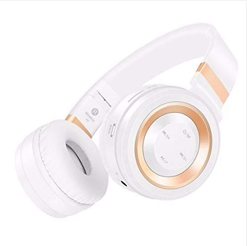 FidgetFidget Headset Sound Intone P6 Wireless Bluetooth Headphones Stereo with Mic for iPhone White-Gold