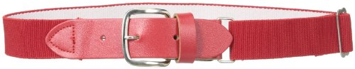 (Wilson Sporting Goods Youth Elastic Baseball Belt, 18-22-Inch, Scarlet)