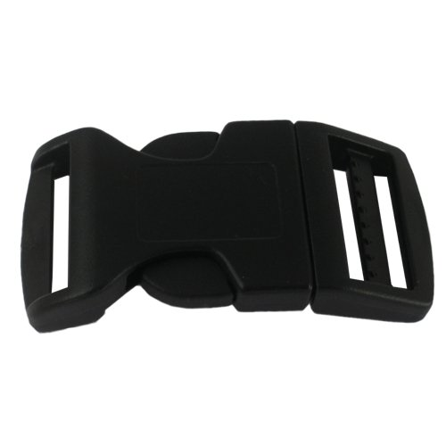 PARACORD PLANET Brand Contoured Side Release Black Buckle - Multiple Size and Quantity (1 Inch, 25 Pack)