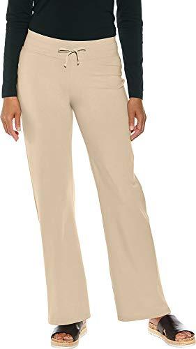 Coolibar UPF 50+ Women's Beach Pants - Sun Protective (Medium- Sandbar Taupe)