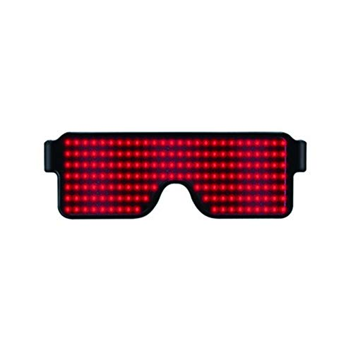 WAGA Glasses Glow Neon Flashing LED Glasses Safety Light up Costumes for Party, Wedding, EDM, Rave, Club, Bar, Dance, Birthday Gift -