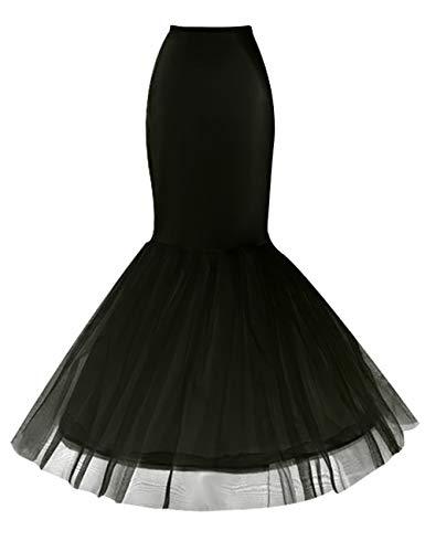 10f9bf65cde48 Jupe Style Sous Princesse De Mariage Sirène Robe 3 Crinoline noir Mariée  Vkstar® Femme Soirée ...
