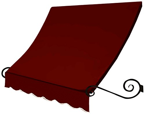 Awntech 8' Charleston Window (Awntech ECH1836-8B 8-Feet Charleston Window/Entry Awning, 18 by 36-Inch, Burgundy)