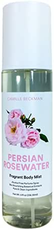 Camille Beckman Fragrant Body Mist, Alcohol Free, Persian Rosewater, 8 Ounce