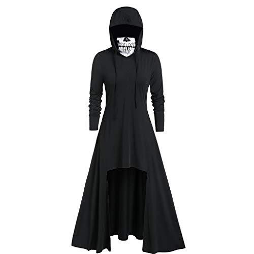 iLOOSKR Fashion Women's Hooded Skirt Pullover Long