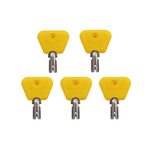 Ignition Key for Yale Clark Hyster Forklift Yellow Head 5 PCS