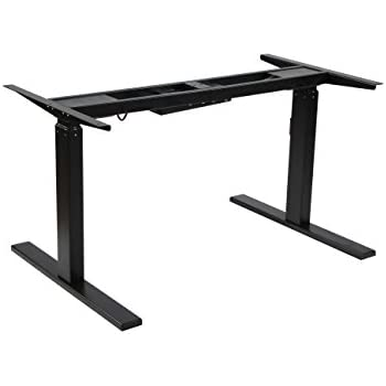 Charming NKV Office Height Adjustable Electric Standing Desk Frame Only, Ergonomic  Solid Steel Dual Motor Stand