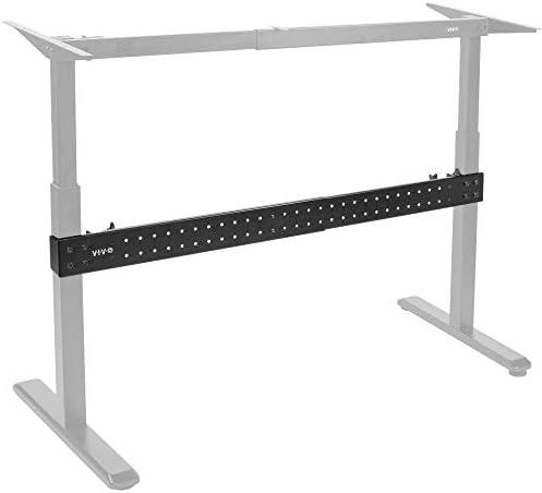 VIVO Black Universal Steel Clamp-on Desk Stabilizer Bar, Bracket Support System for Sit to Stand Desk Frames DESK-STB01B