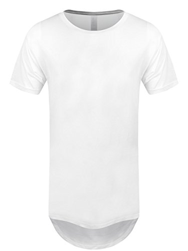 Herren T-Shirt Long Body Urban weiß