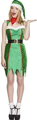 (Ladies Fever Mischievous Elf Xmas Christmas Festive Fancy Dress Costume Outfit (UK 8-10))