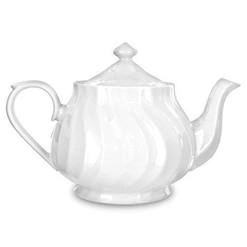 Imperial White Large 37 to 40 Ounce Porcelain Tea Pot