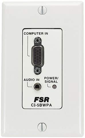 FSR CI-5BWPA-WHT Computer Interface Wall Plate ()