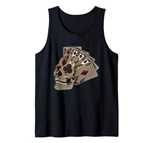Poker Themed Skull | Casino Theme Party Gift Tank Top