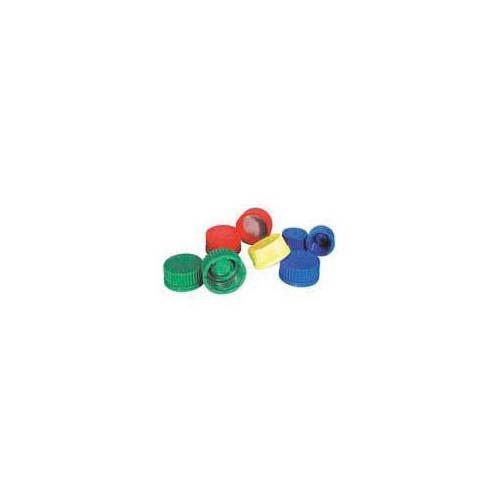 Bellco Glass 5637-00047 Polypropylene Linerless Screw Cap with Inner Sealing Lip GL45 Cap Size Green Case of 10