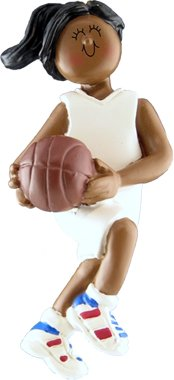 - African American Female Basketball Player Christmas Ornament