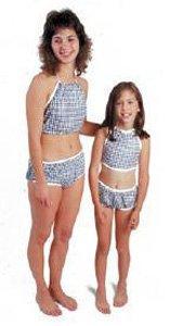 Dipsters patientwear, women's bibb-top bikini, small