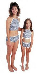 Dipsters patientwear, girls' bibb-top bikini, medium, dozen
