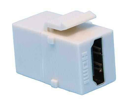 (RiteAV HDMI 2.0 Keystone Jack Coupler Light Almond Female/Female)