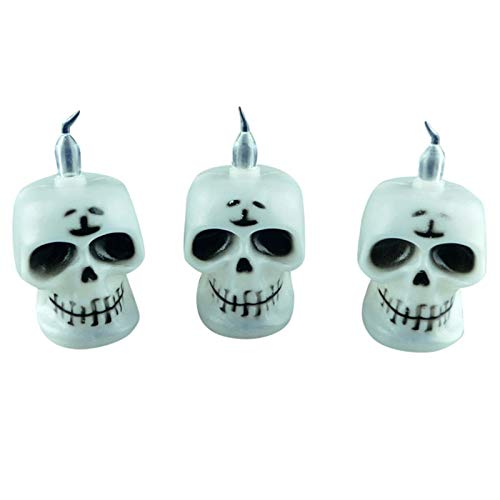 een LED Candle Light Skeleton Pumpkin Night Light Lamp Party Supplies Props Halloween Festival Candles Home Decor ()