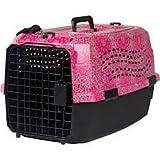 Lixit Animal Care Bandana Print Two Door Pet Carrier, 19''