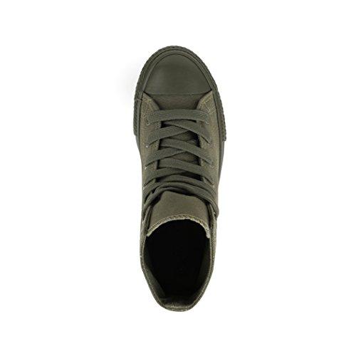 Elara Zapatos nbsp;– nbsp;Zapatos de Deporte Loisirs High nbsp;Unisex de Sneakers All Top nbsp;– Grün Tejido fqwBfxnr