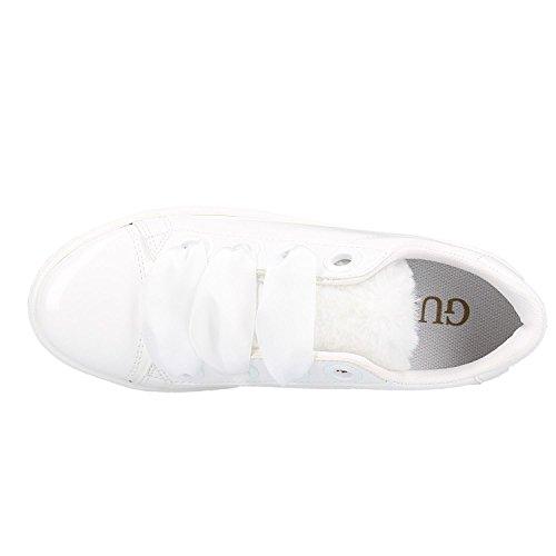 Femme Blanc Urny Gymnastique de Chaussures Guess 1qnIHf4ww