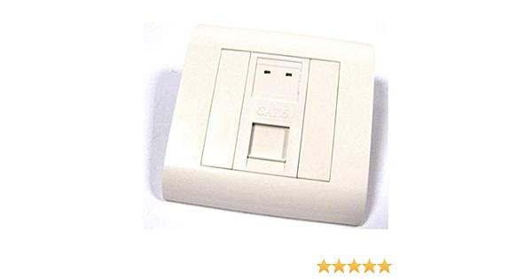 BeMatik - Caja de pared o canaleta de 80x80 con 1 RJ45 UTP Cat.6 568B: Amazon.es: Electrónica